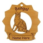 7077 Bengal Cat Ornament Personalized with Your Cat's Name